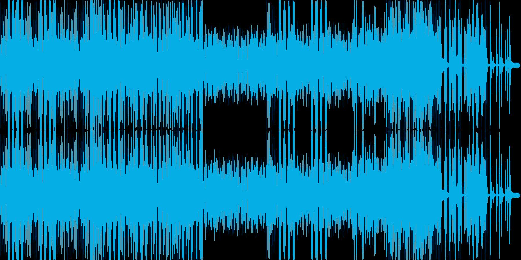 シタールがメロディを奏でる無国籍風の曲の再生済みの波形