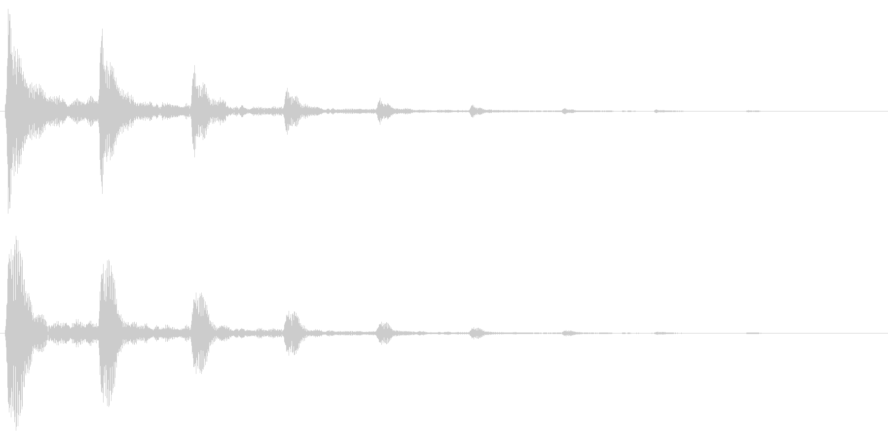 シュリリ(鳴き声・回転の音)の未再生の波形