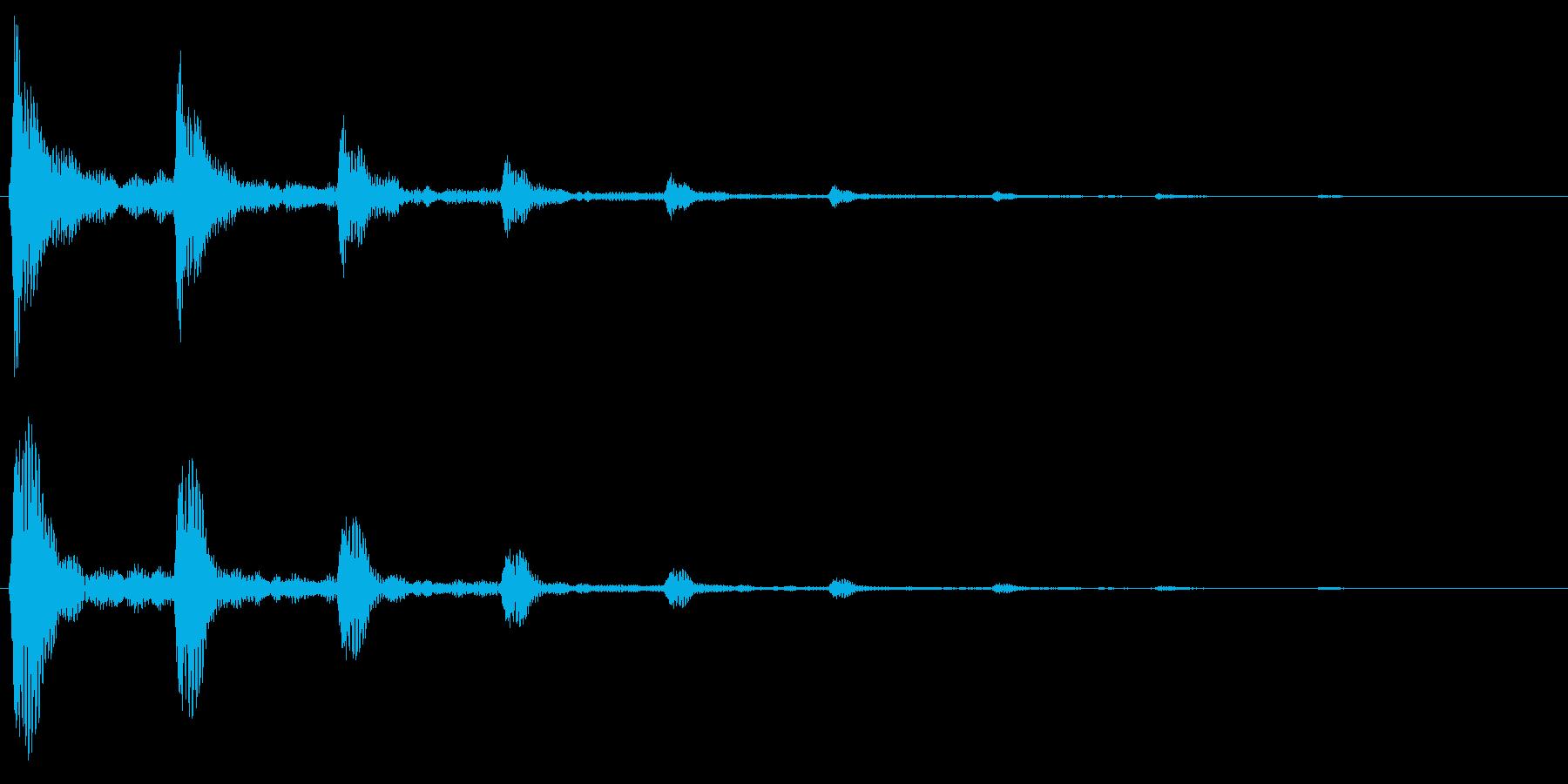 シュリリ(鳴き声・回転の音)の再生済みの波形