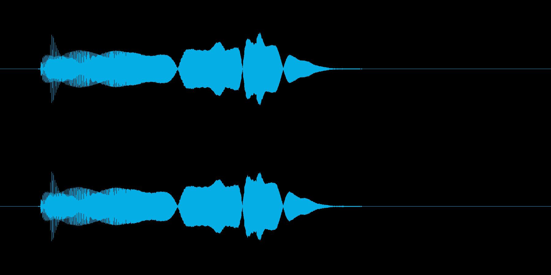 ブミョーン(スライム感ある電子音)の再生済みの波形
