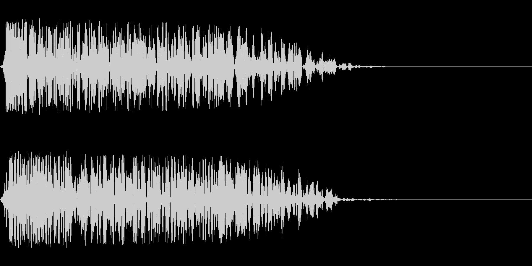 爆風の音の未再生の波形