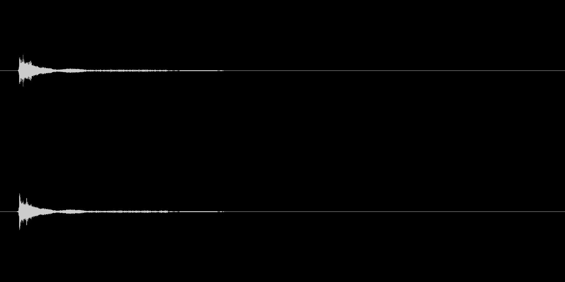 多目的効果音「ピッ」の未再生の波形