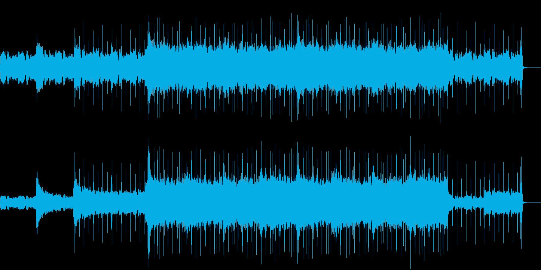 ギターとストリングスの力強い楽曲の再生済みの波形