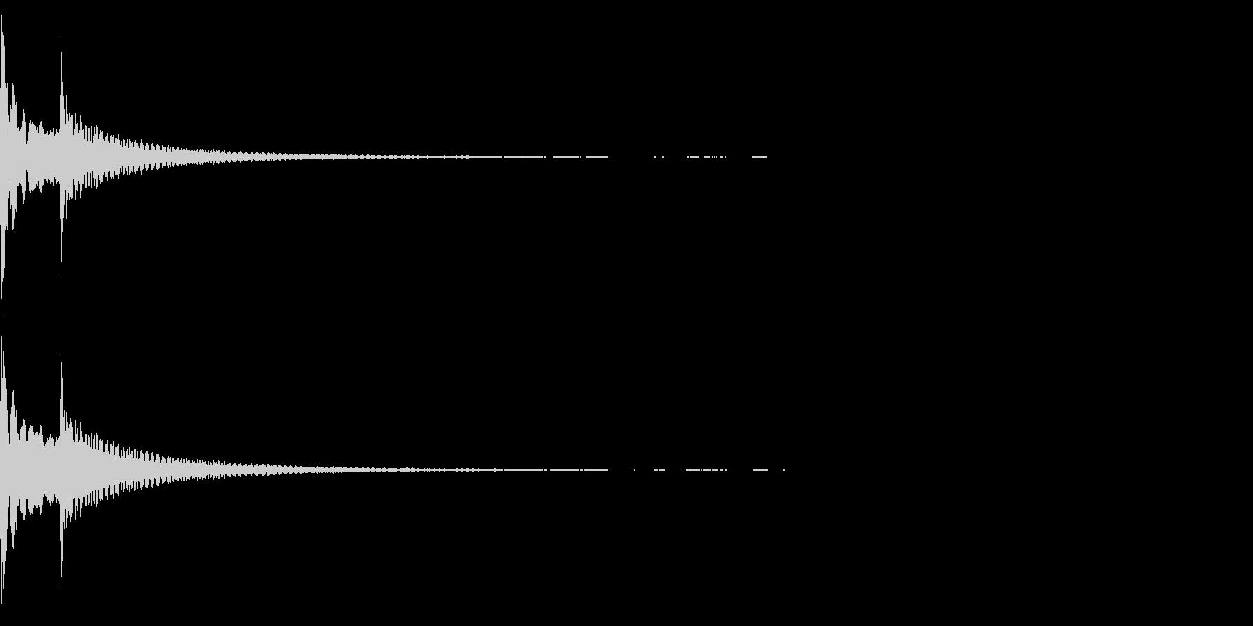 コロン(カーソル、決定、強調)の未再生の波形