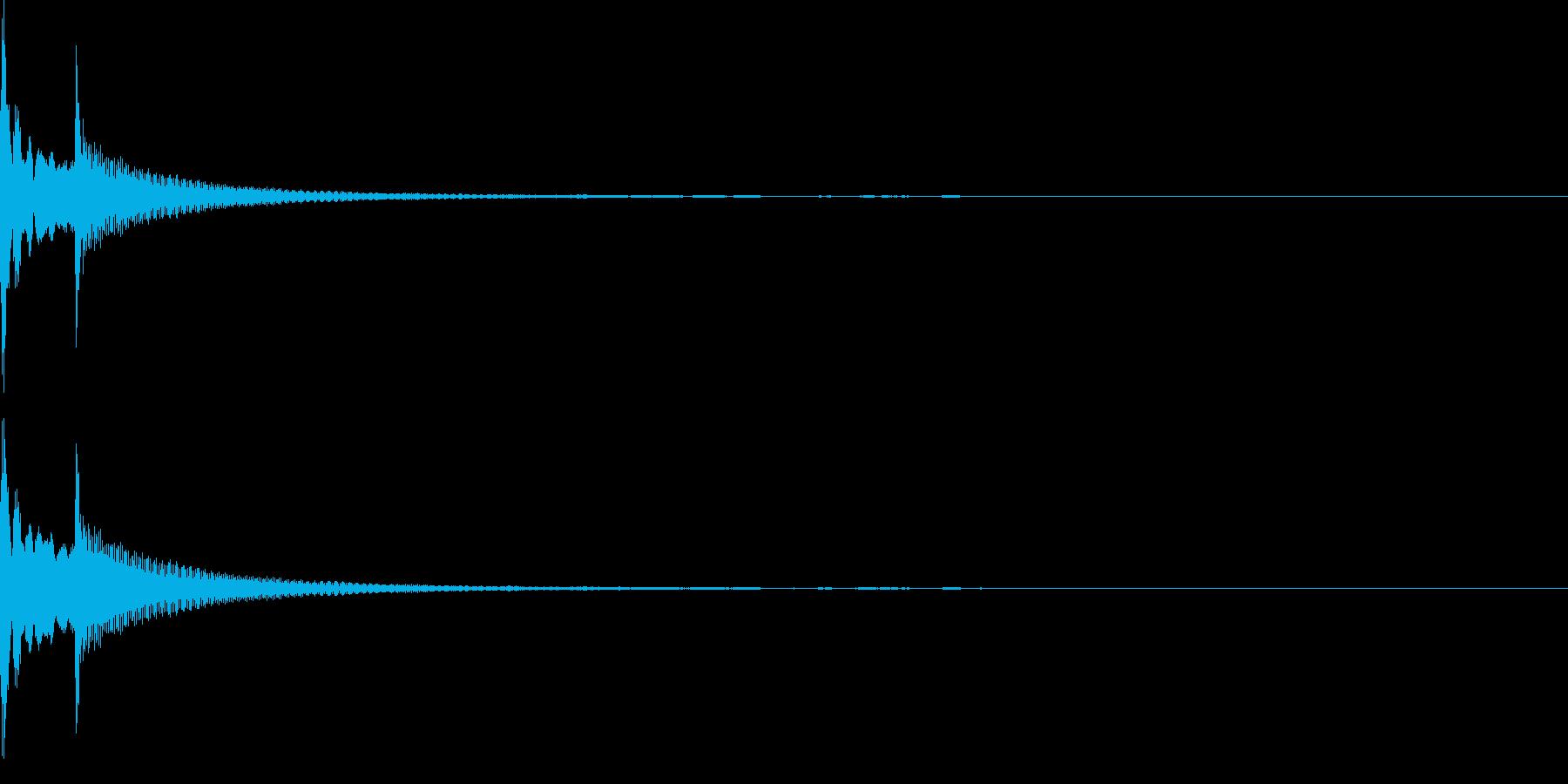 コロン(カーソル、決定、強調)の再生済みの波形