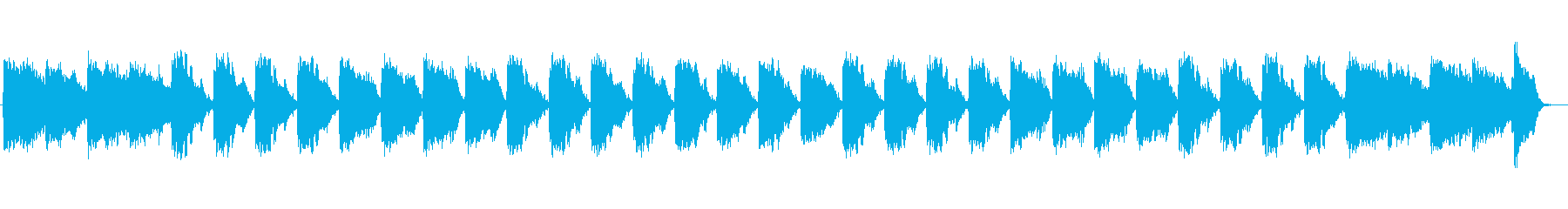 ゆったり宇宙感のシンセサイザーサウンドの再生済みの波形