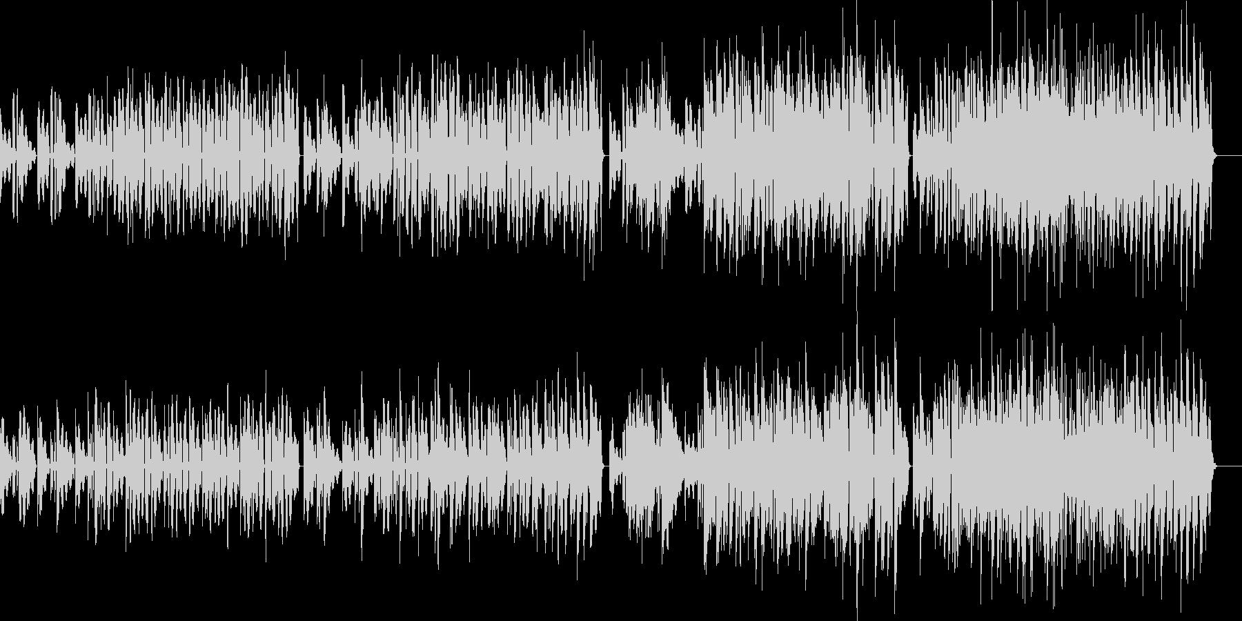 エレピの渋めのコード弾きにブルーズギターの未再生の波形