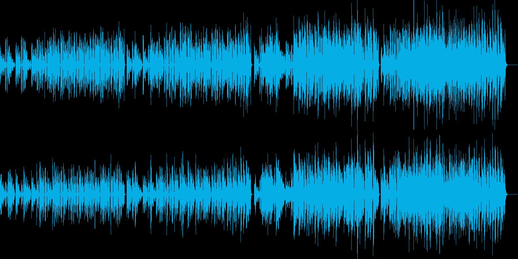 エレピの渋めのコード弾きにブルーズギターの再生済みの波形