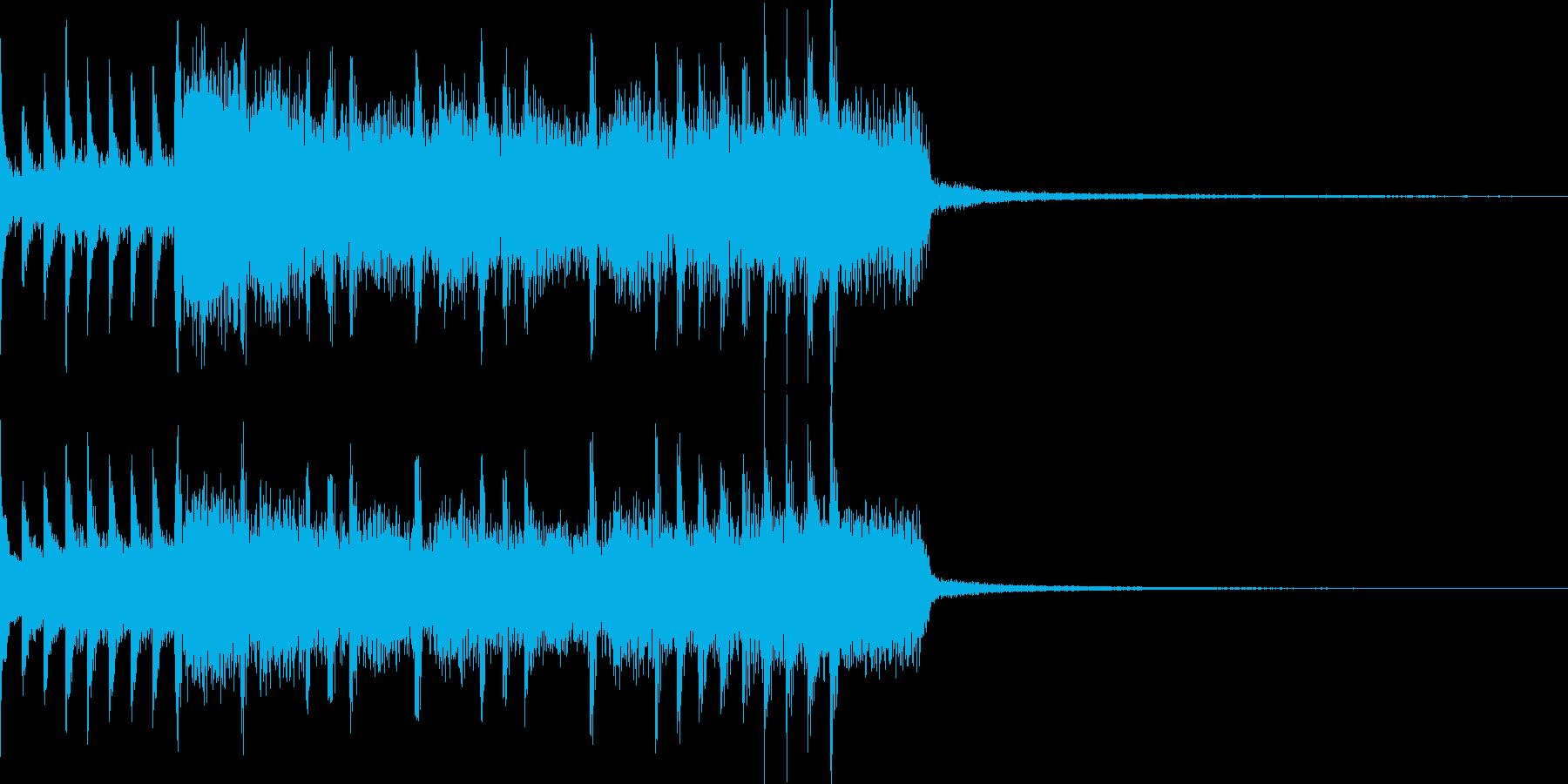 不協和音なハードロックジングルの再生済みの波形