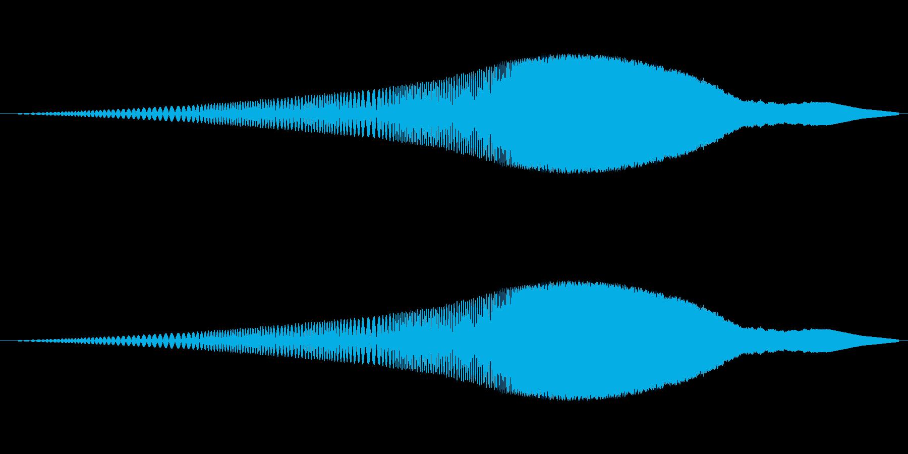 ヒュイーーーーーーン。ワープする。遠く…の再生済みの波形