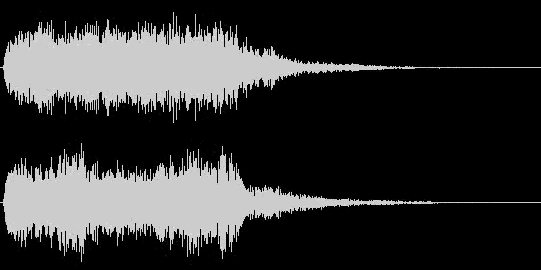 ハロウィン ホラー系 オルガン効果音の未再生の波形