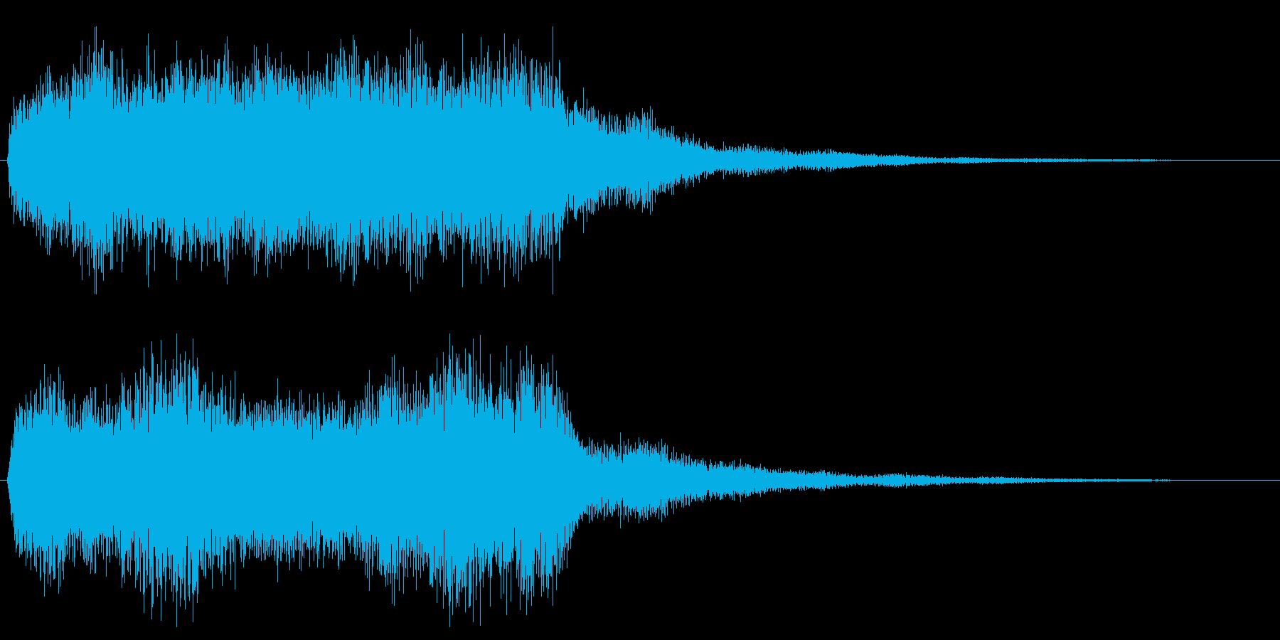 ハロウィン ホラー系 オルガン効果音の再生済みの波形