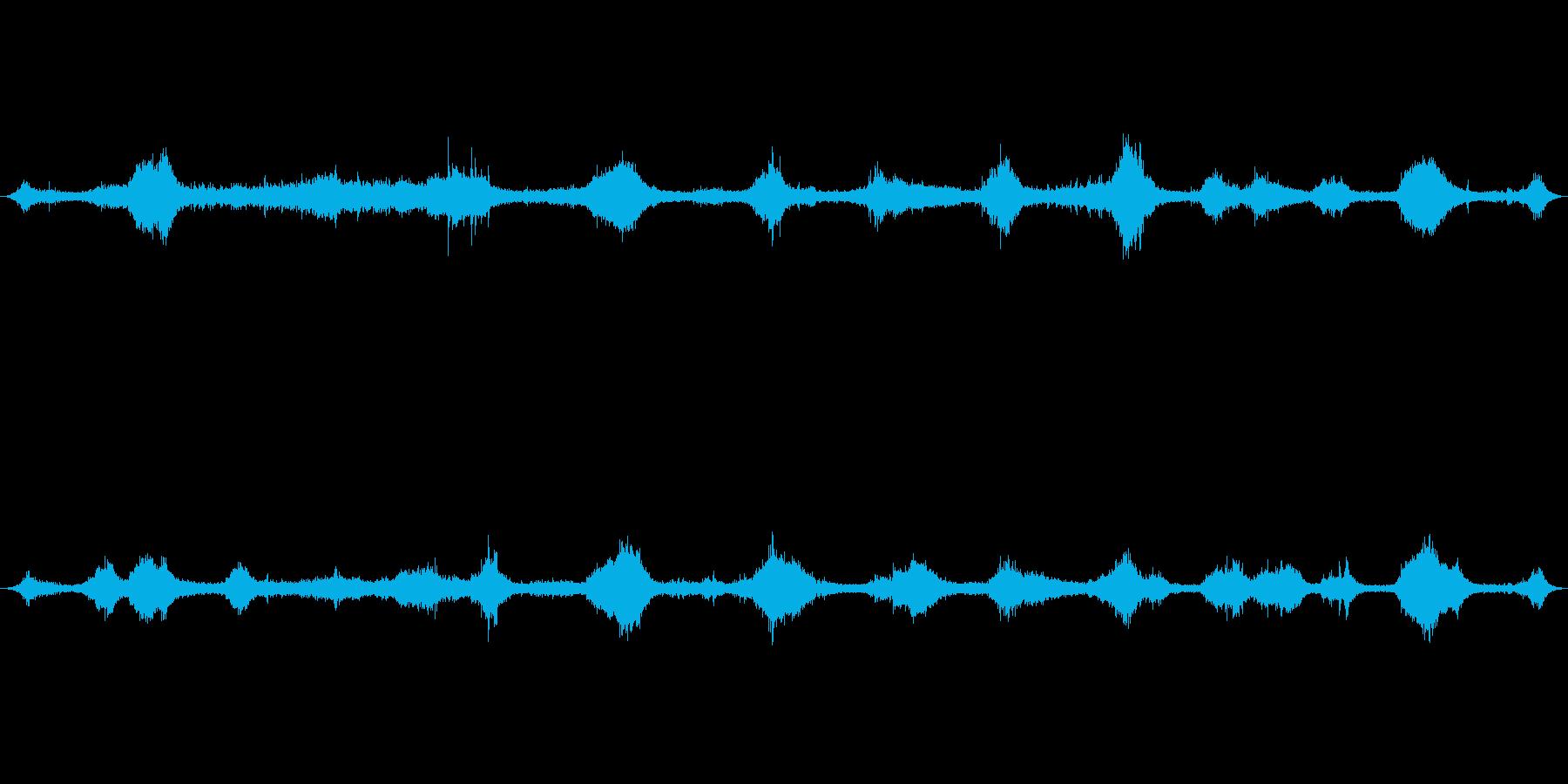 沖縄珊瑚の浜満潮の波音01の再生済みの波形