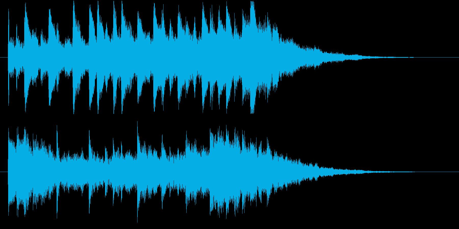 スタイリッシュなインスピレーション系ロゴの再生済みの波形
