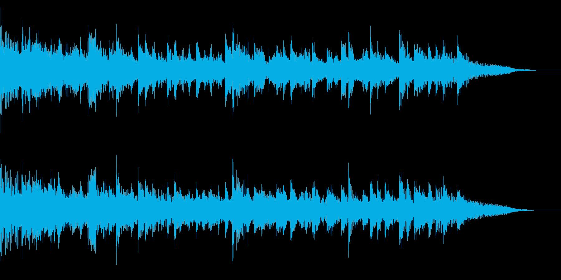 ほのぼのとした雰囲気のBGMの再生済みの波形