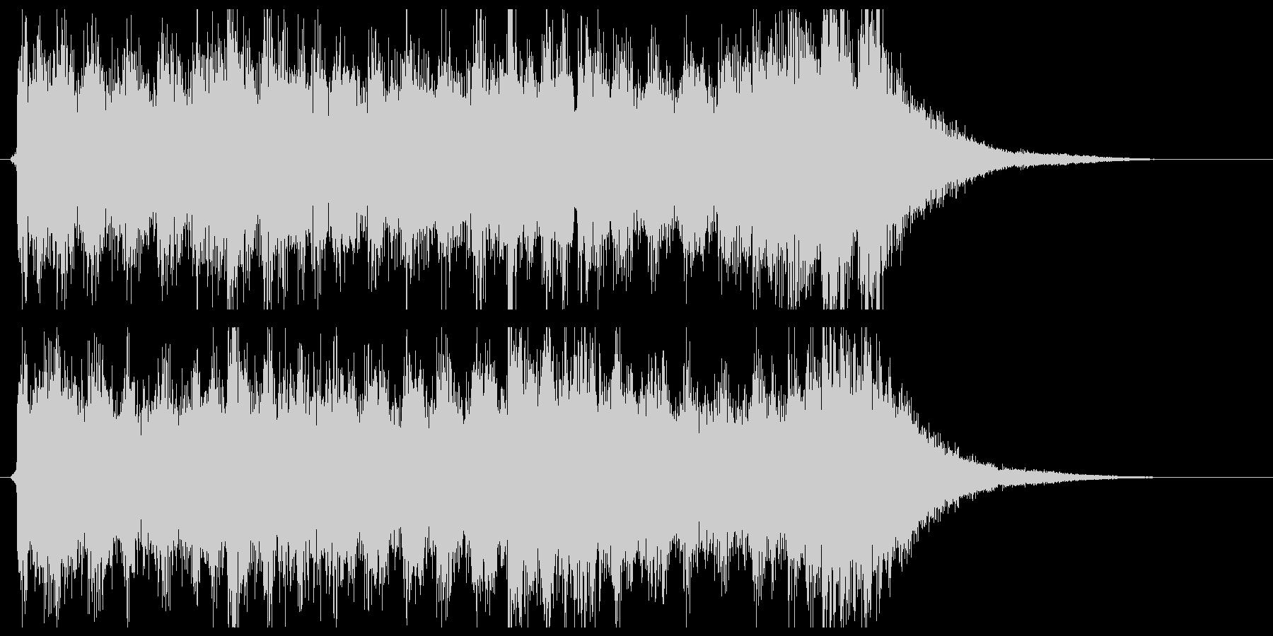 シンセとクワイヤーのサウンドロゴの未再生の波形