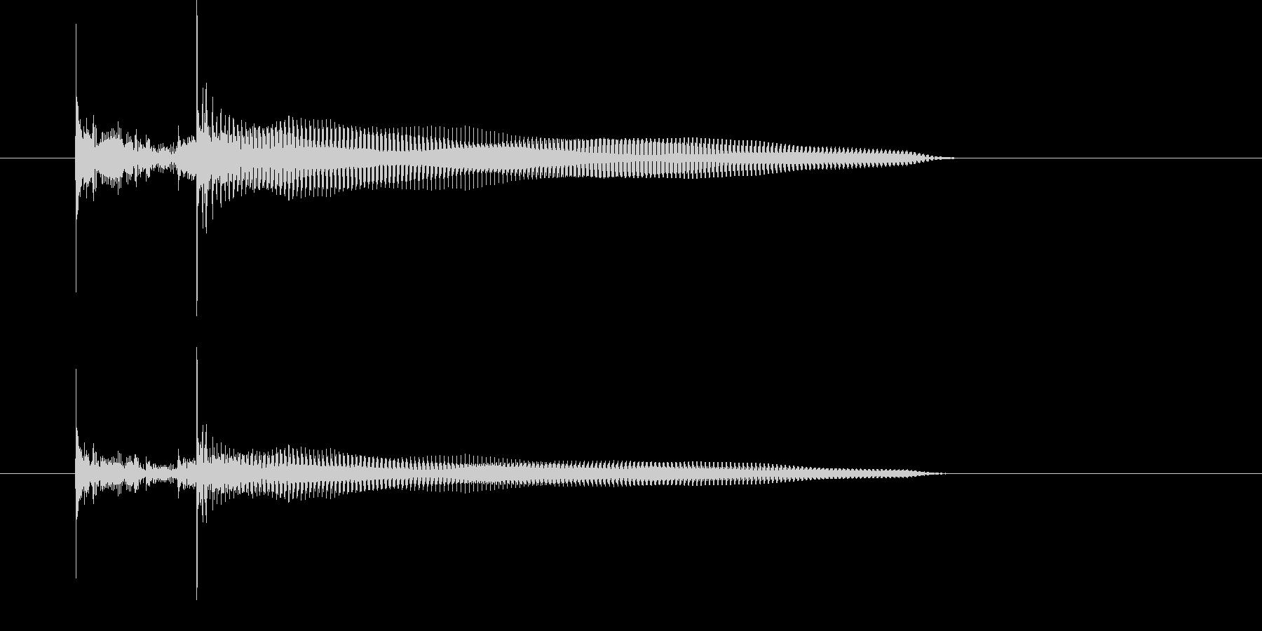 ジャカジャカジャ~ンというギター音の未再生の波形