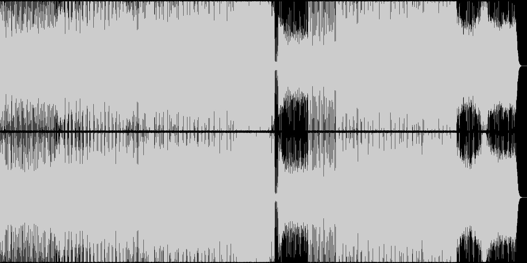 軽快でハイテンポなポップインストの未再生の波形