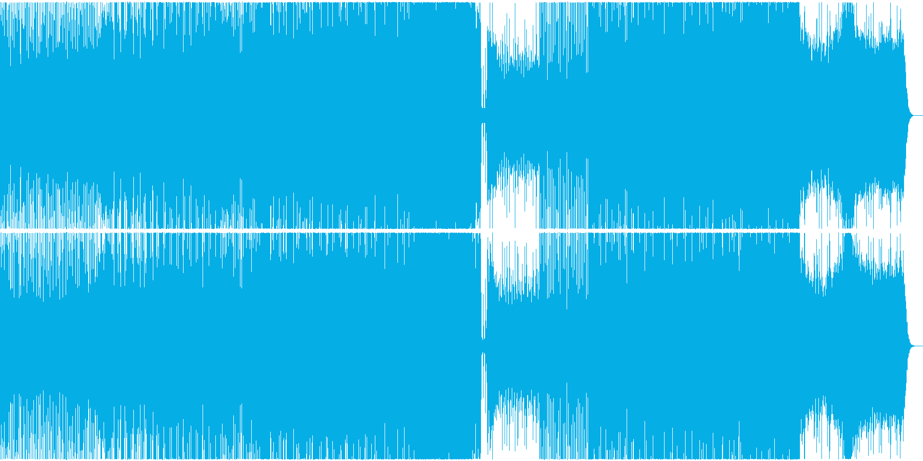 軽快でハイテンポなポップインストの再生済みの波形