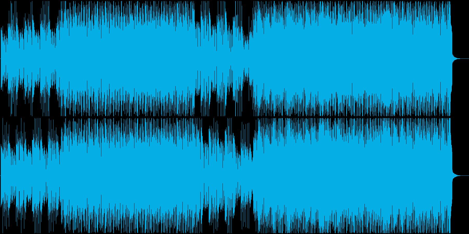 疾走感ある映像向けロックの再生済みの波形
