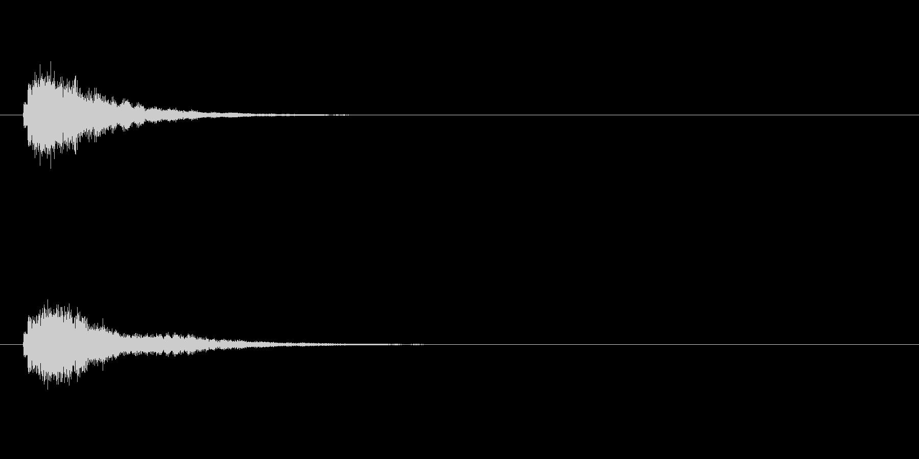アイテムや魔法の音(キラキラ)の未再生の波形