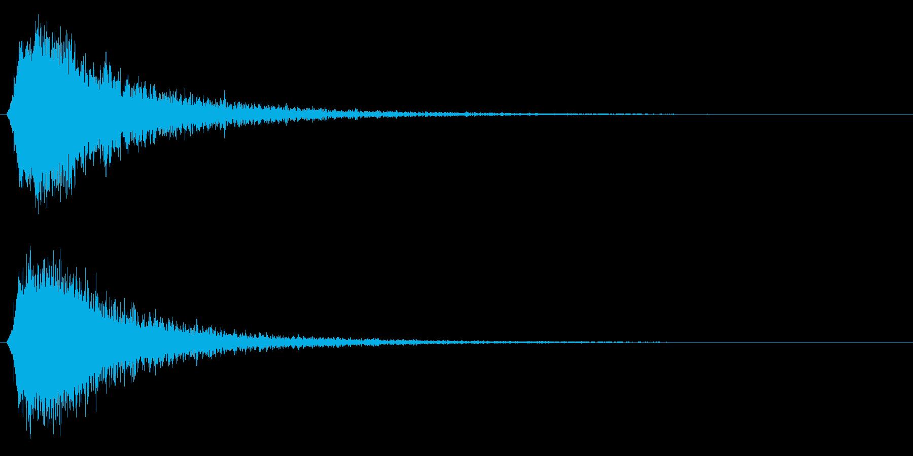 シャキーン!強烈なインパクト効果音3CVの再生済みの波形