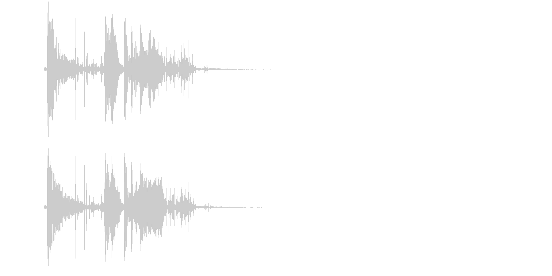 ガシャーン(割れる音、落下音)の未再生の波形