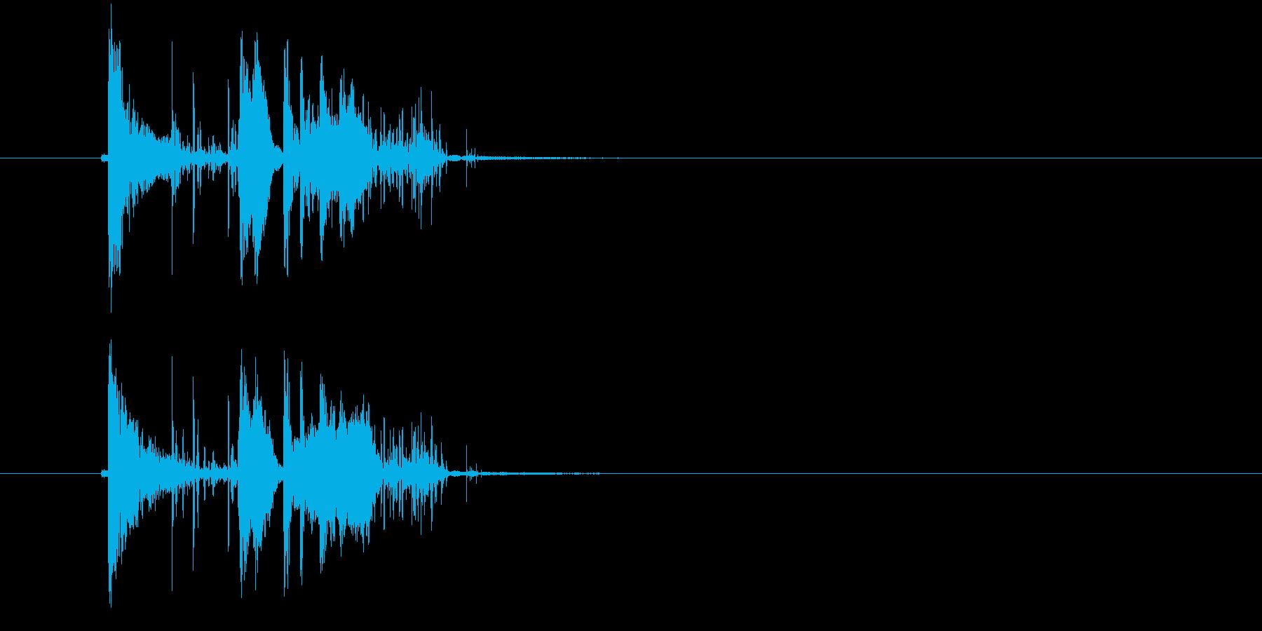 ガシャーン(割れる音、落下音)の再生済みの波形