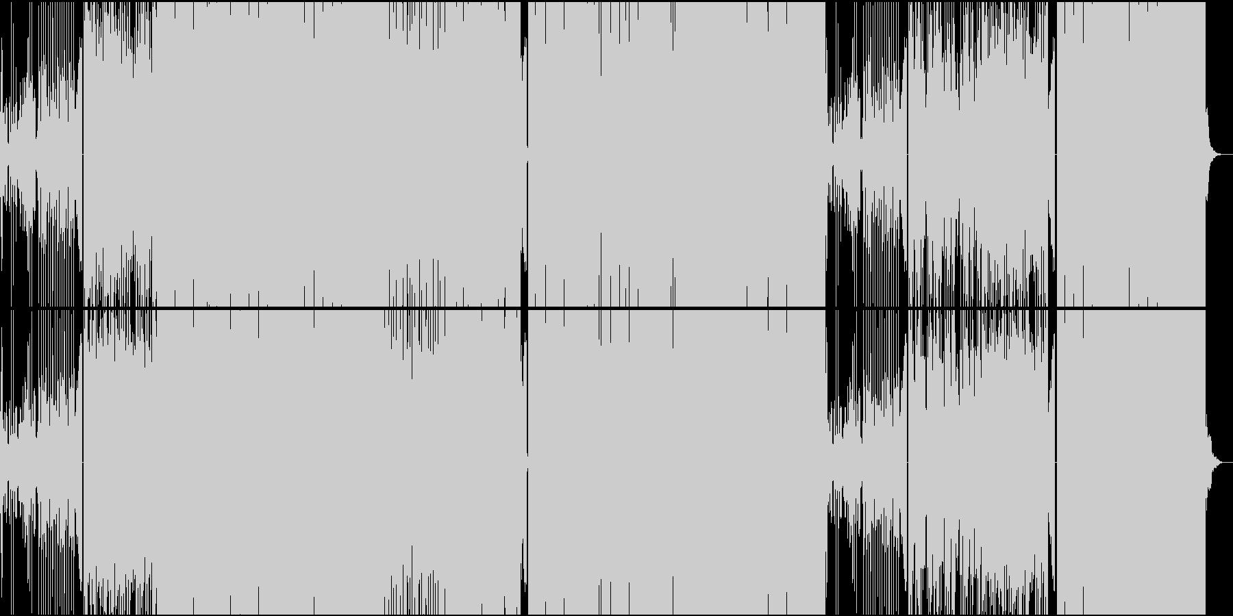 キラキラ系おとぎ話洋楽EDMの未再生の波形