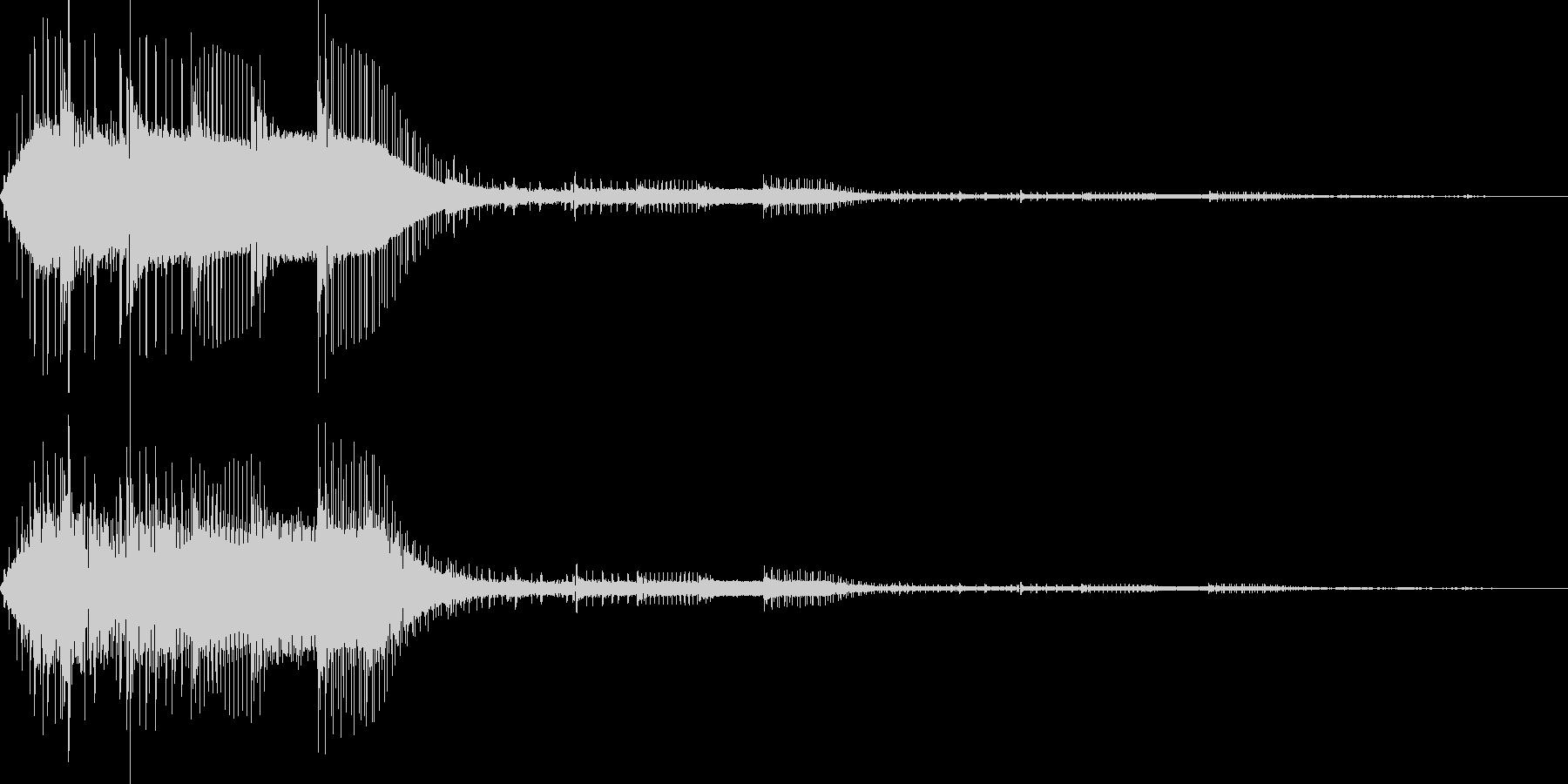 決定(8bit風)の未再生の波形