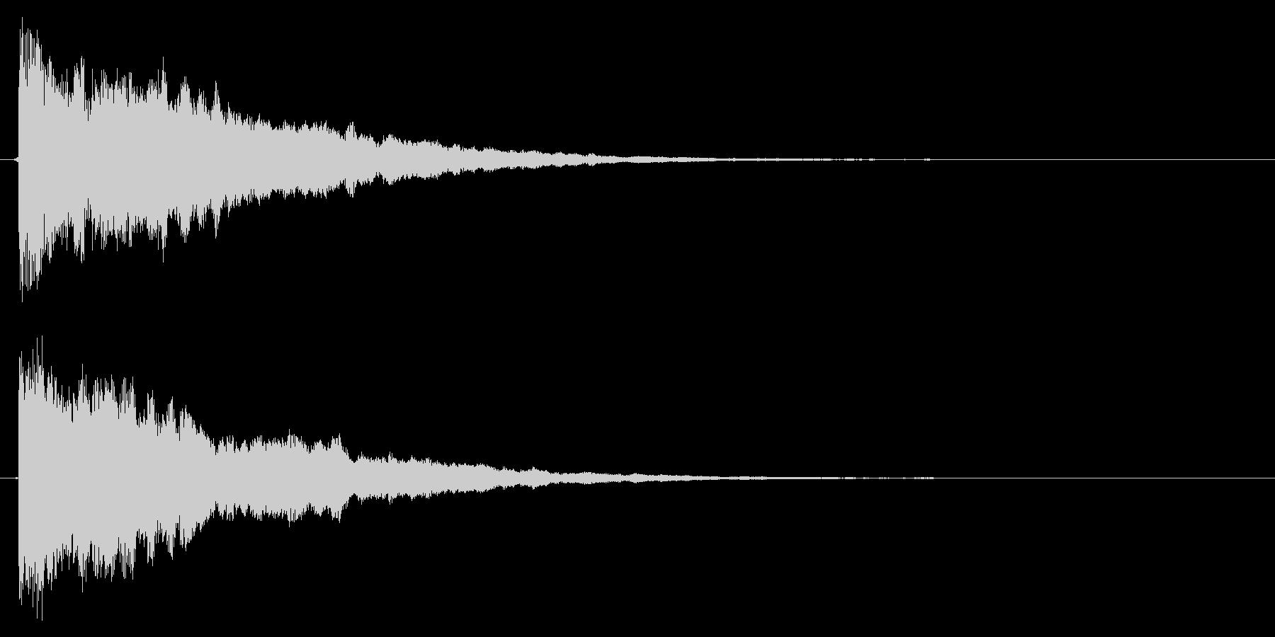 決定音/SF/星の未再生の波形