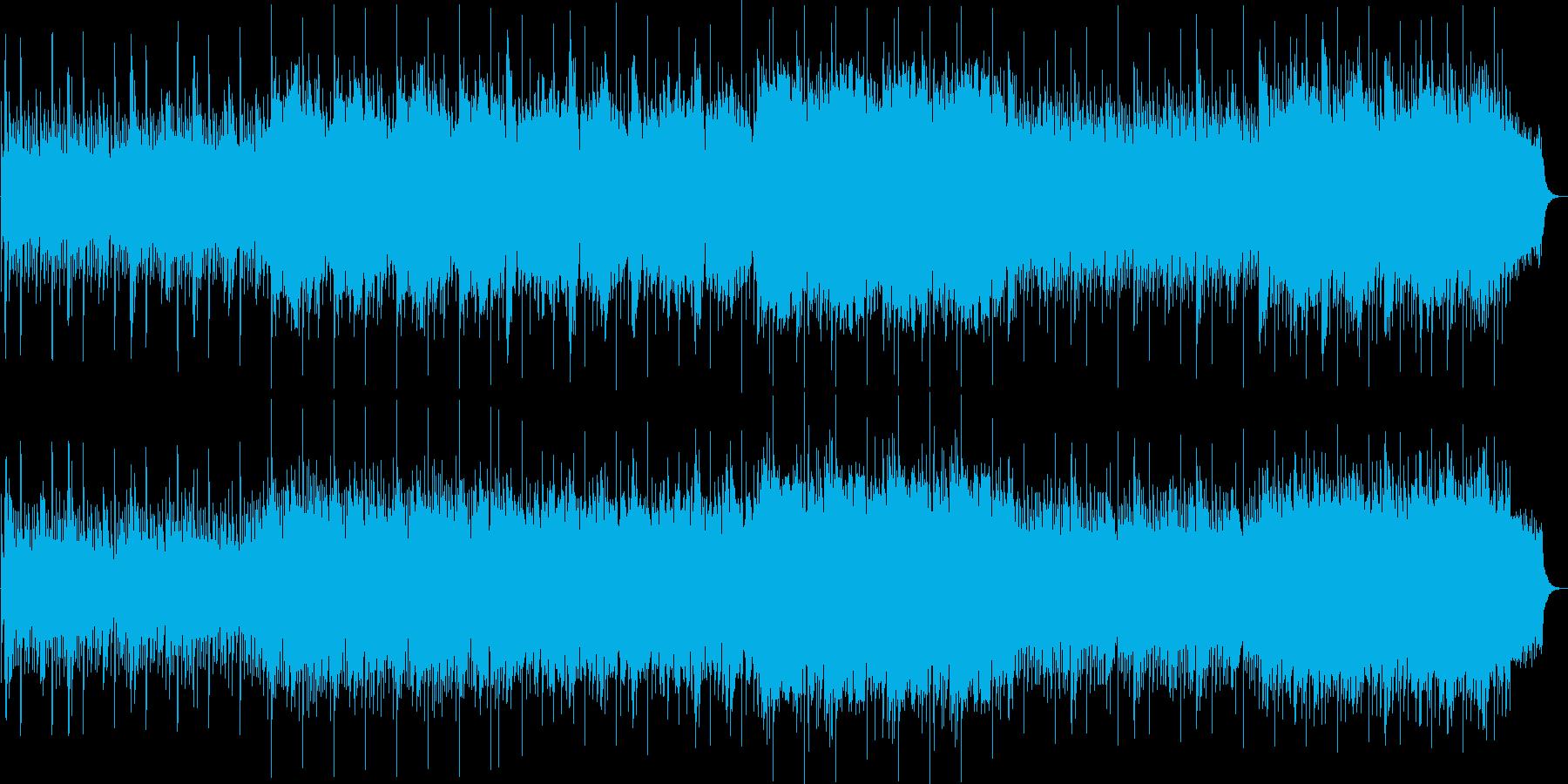 和風で幻想的なリラックスできる曲の再生済みの波形