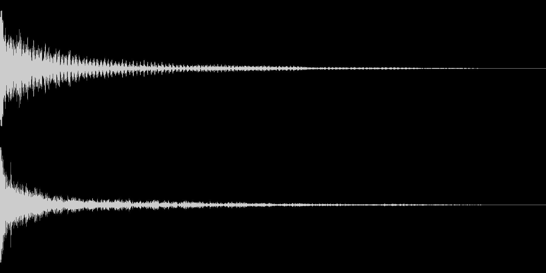 ホラー系アタック音65の未再生の波形