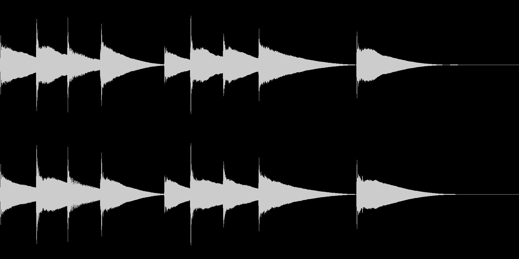 リズミカルな着信音の未再生の波形