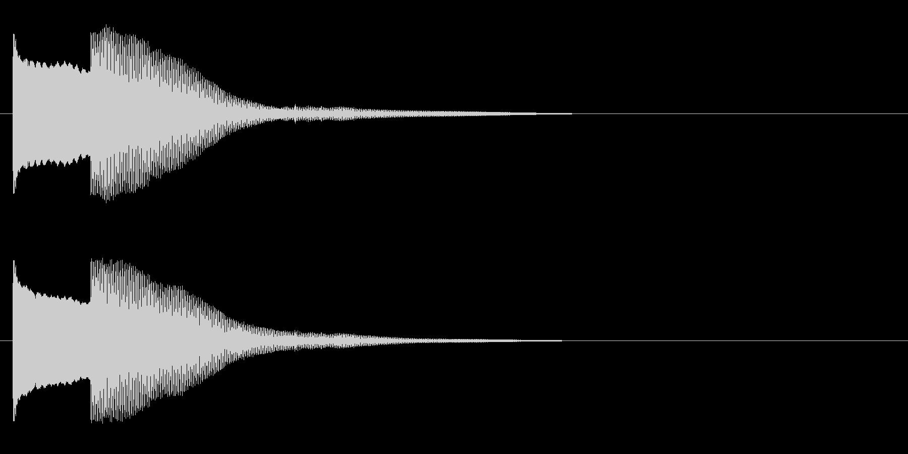 オルゴールでピコンの未再生の波形