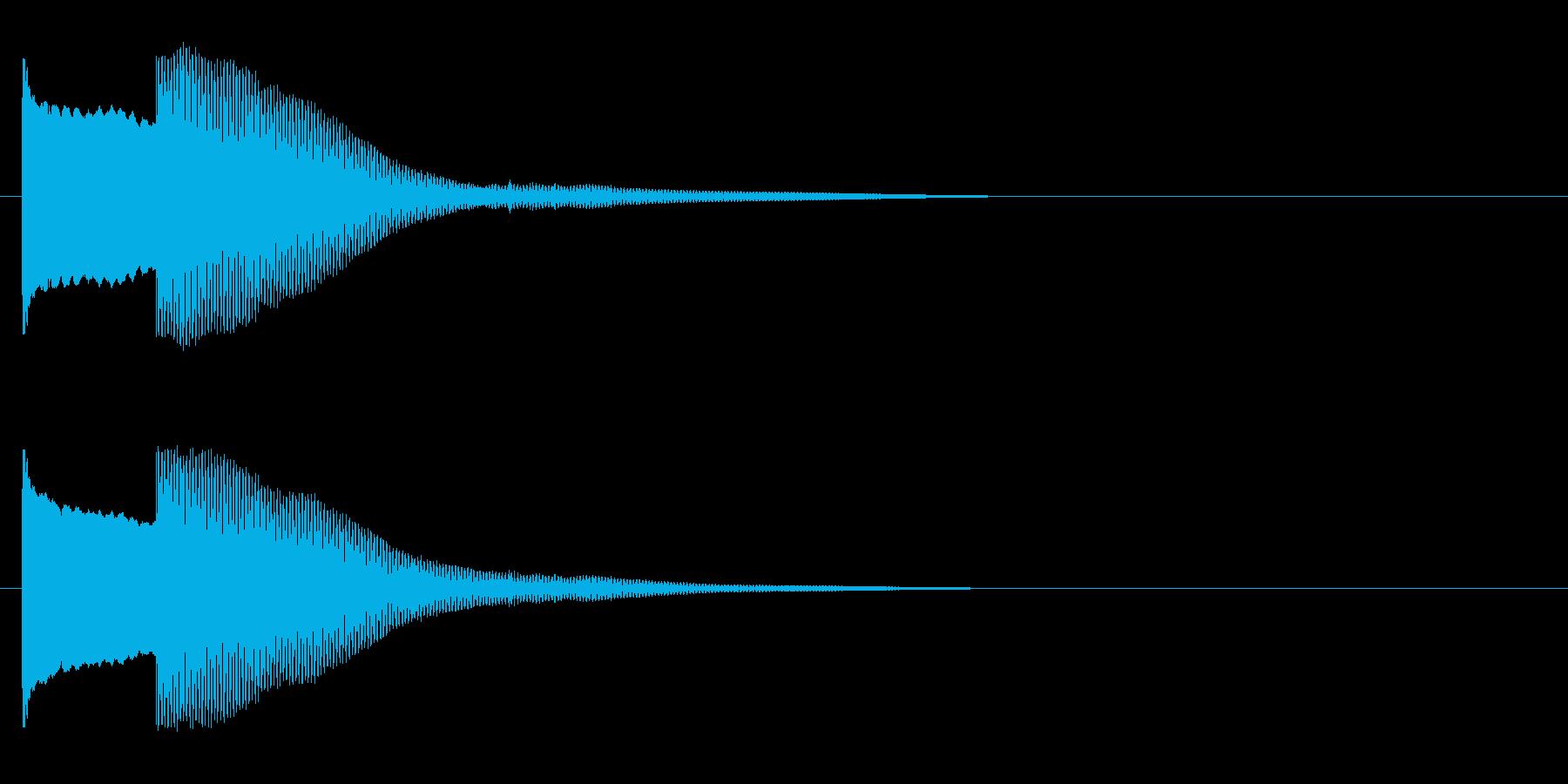 オルゴールでピコンの再生済みの波形