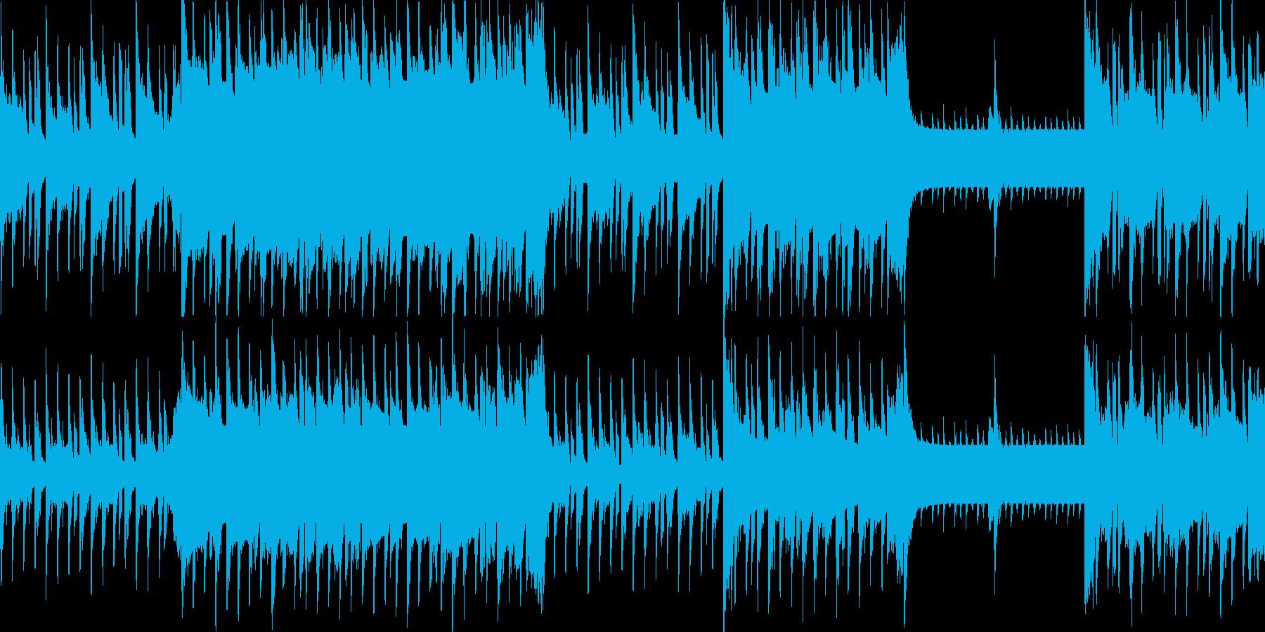 近未来的でポップなゲームなどで使える曲の再生済みの波形