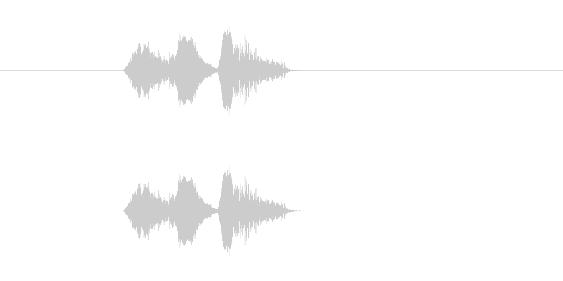 リスンドゥアの未再生の波形
