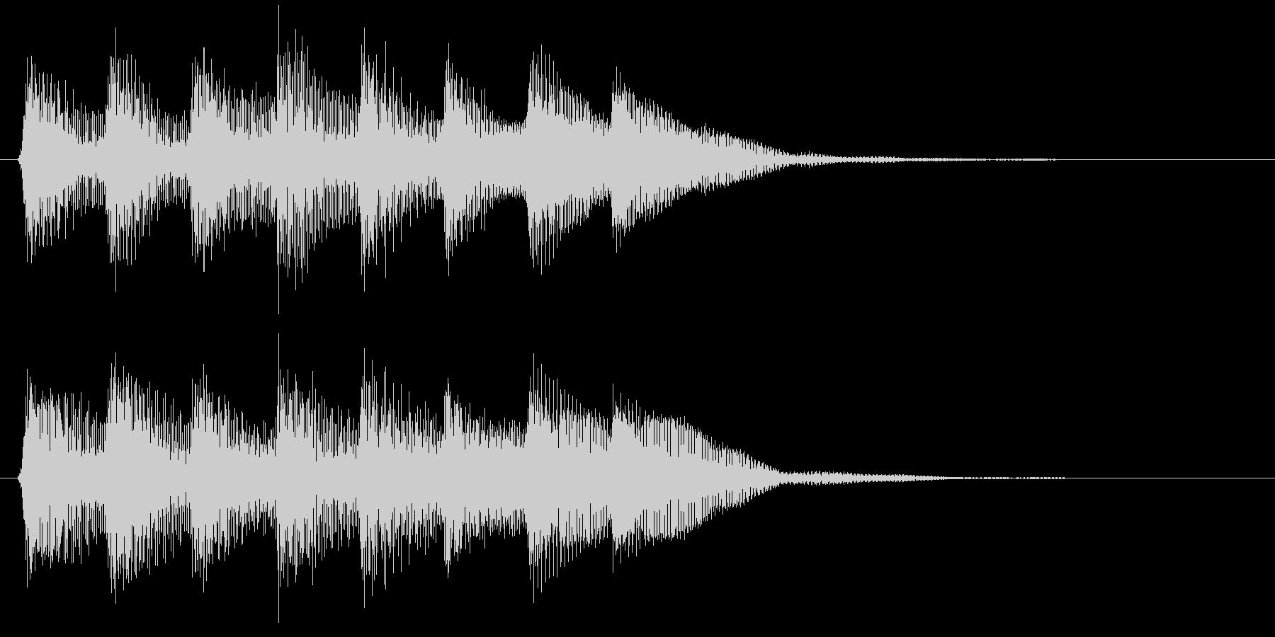 ピコピコ音のゲームクリア音 達成 成功の未再生の波形