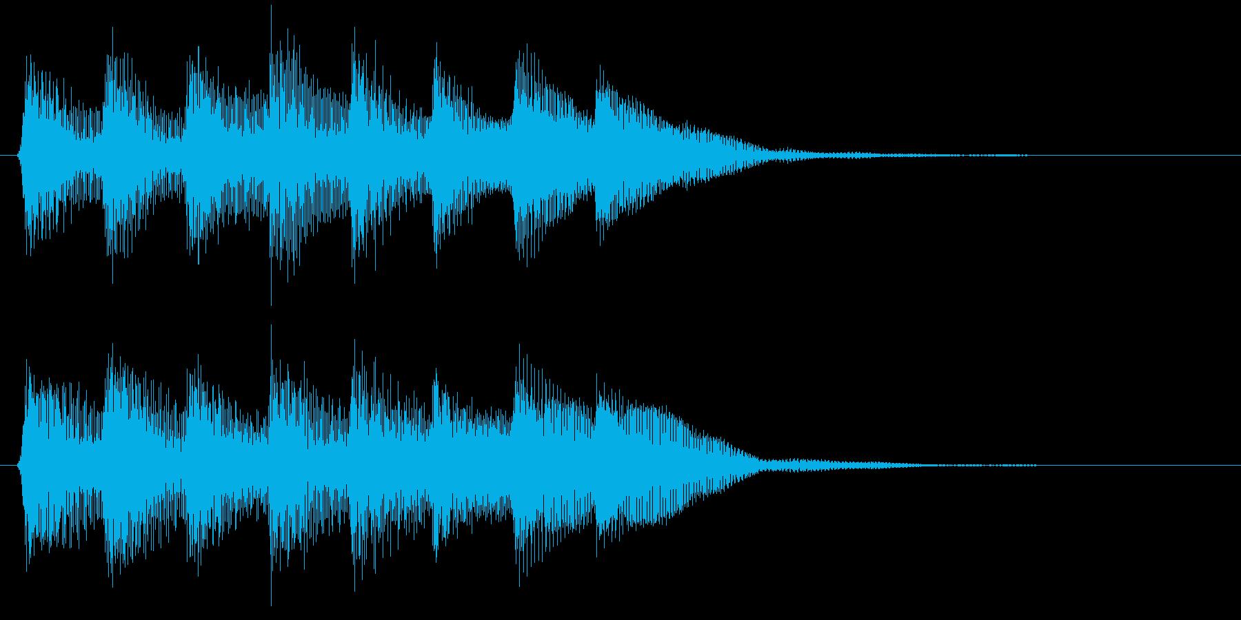 ピコピコ音のゲームクリア音 達成 成功の再生済みの波形