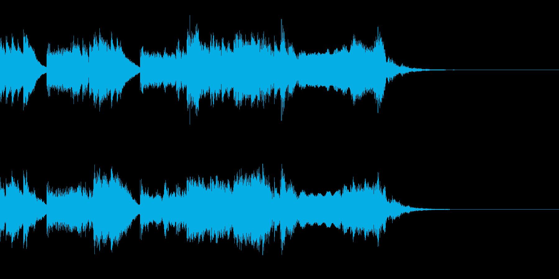少し不思議な感じのジングルの再生済みの波形