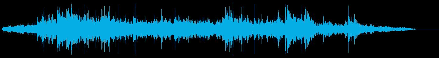 ガラガラ(ガラス製の引き戸を開ける音)の再生済みの波形