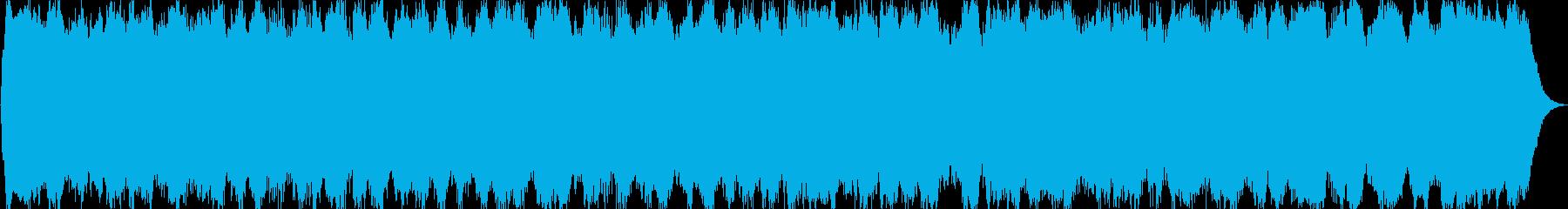パイプオルガンのバロック調の曲の再生済みの波形