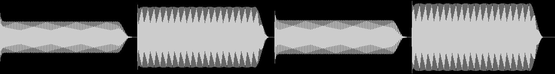 ゲームなどの一時停止音 ピコピコ。レトロの未再生の波形