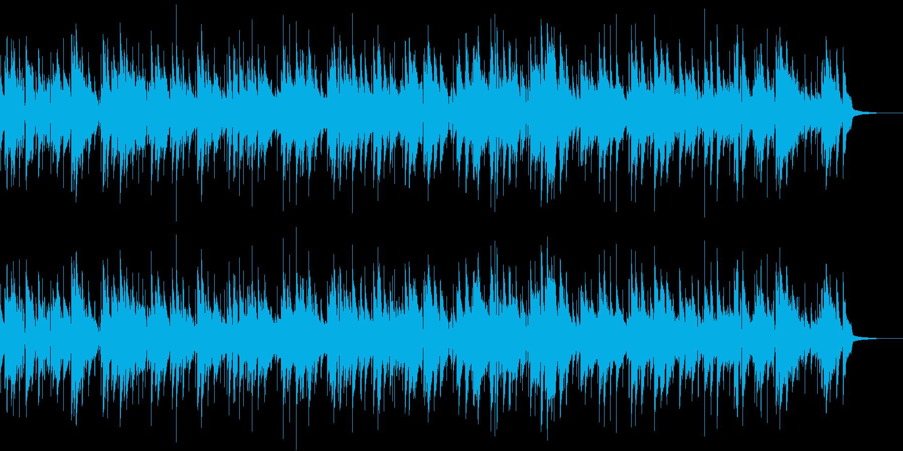スライドギターでメロディを弾いたブルースの再生済みの波形