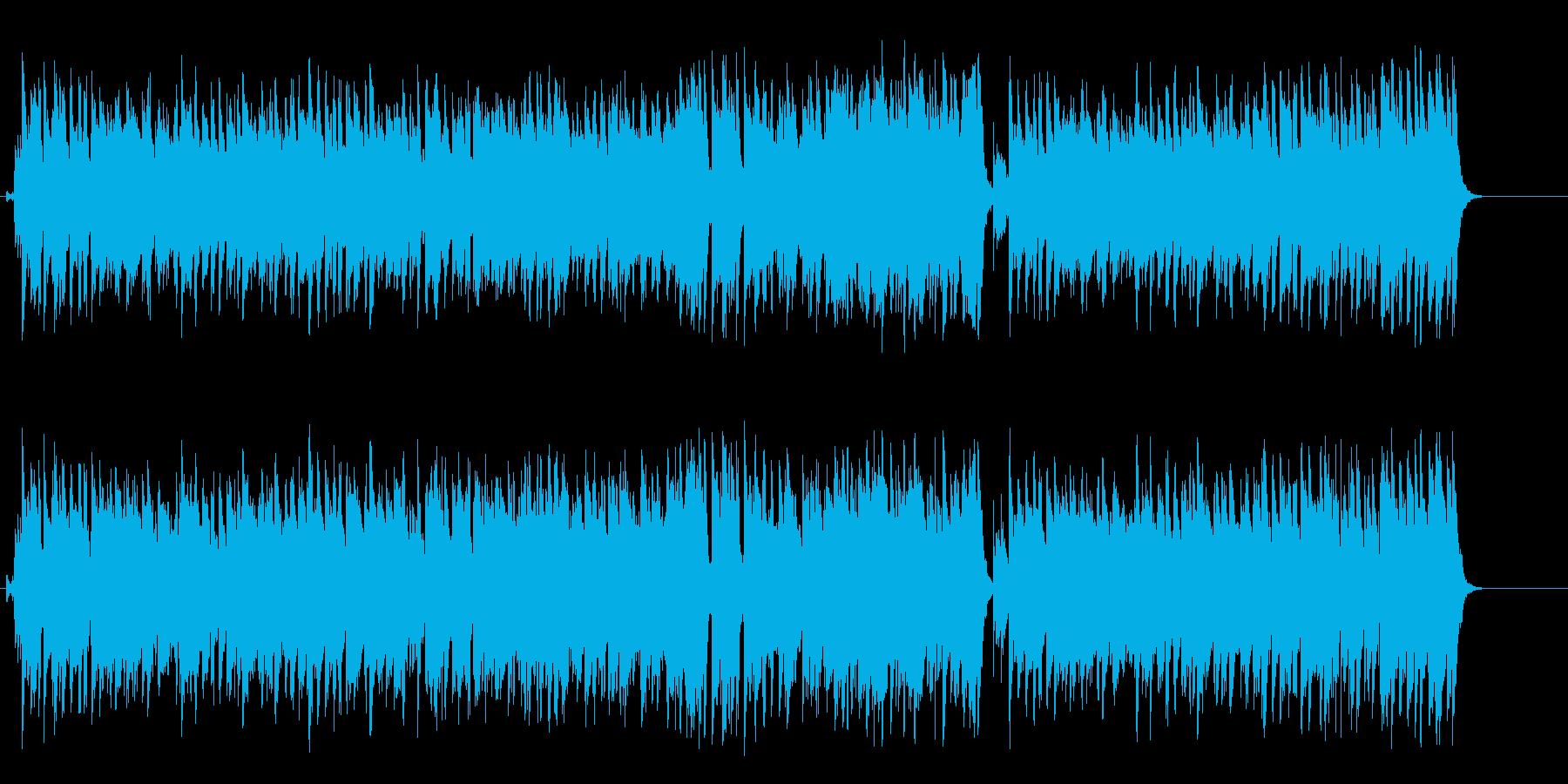探偵の追跡感溢れるマイナーテクノ/BGの再生済みの波形