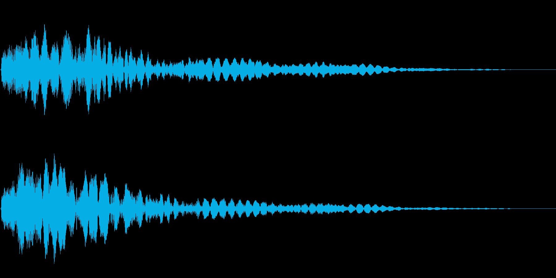 サスペンスに最適!ピアノの弦を弄ぶ音51の再生済みの波形