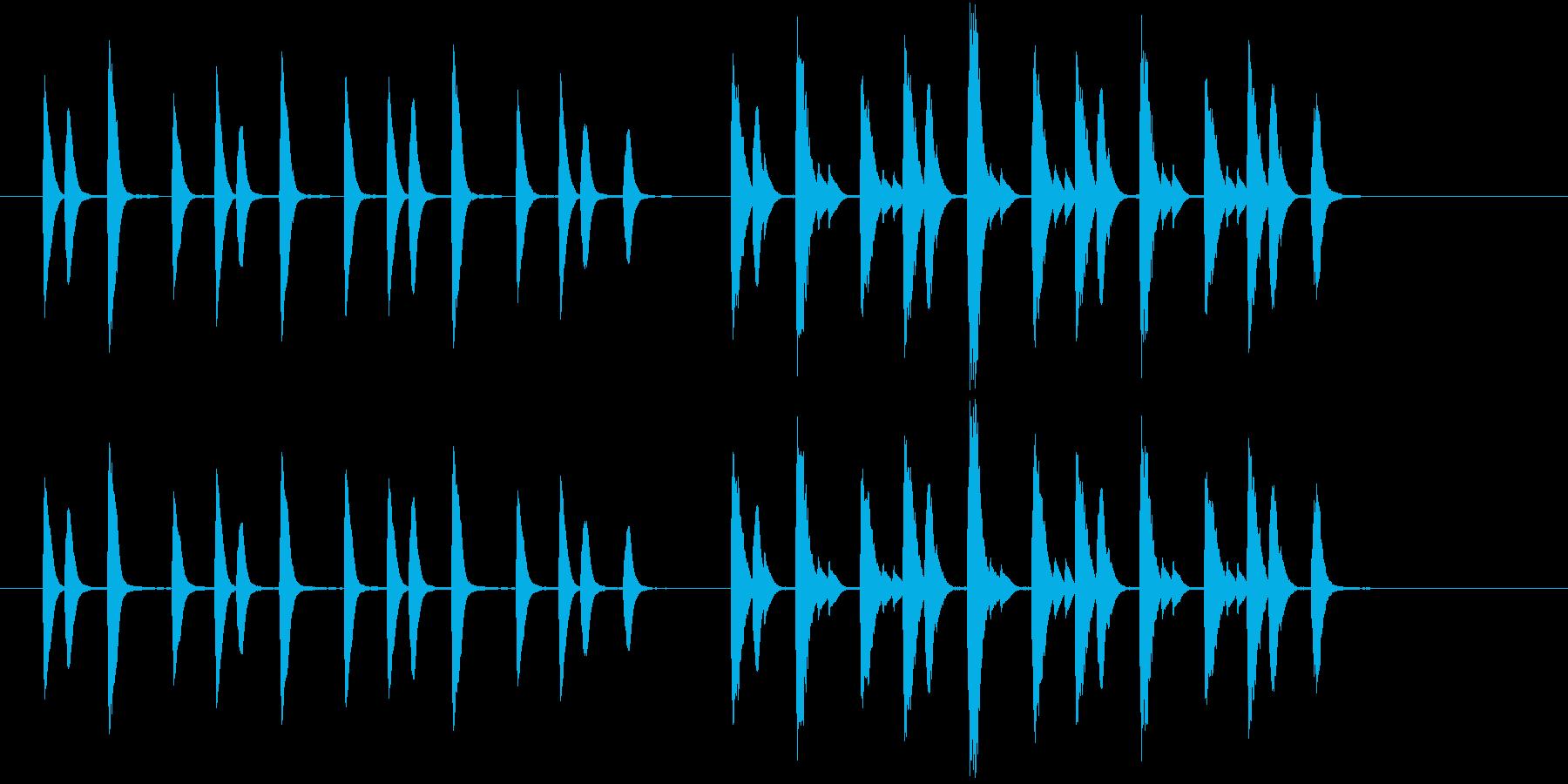 ほのぼのした場面切り替えに使えるジングルの再生済みの波形