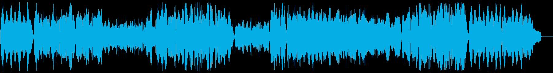 オーケストラによる奇妙で軽快なワルツの再生済みの波形