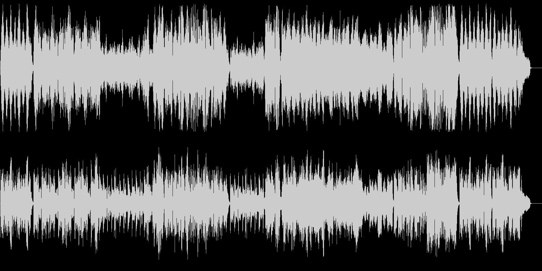 オーケストラによる奇妙で軽快なワルツの未再生の波形